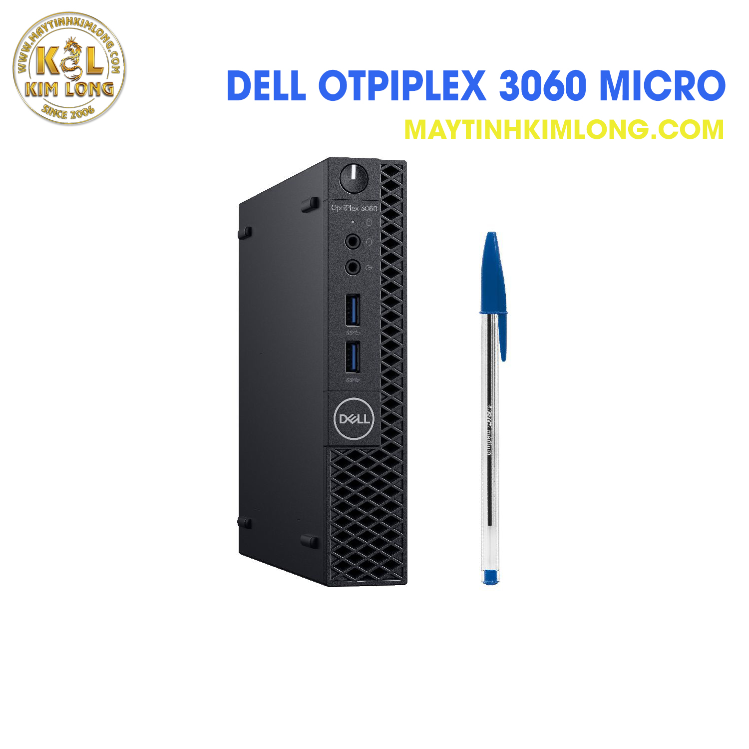 Máy bộ Dell OptiPlex 3060 Micro  i3 8100T/DDR4 4GB/HDD 500 GB
