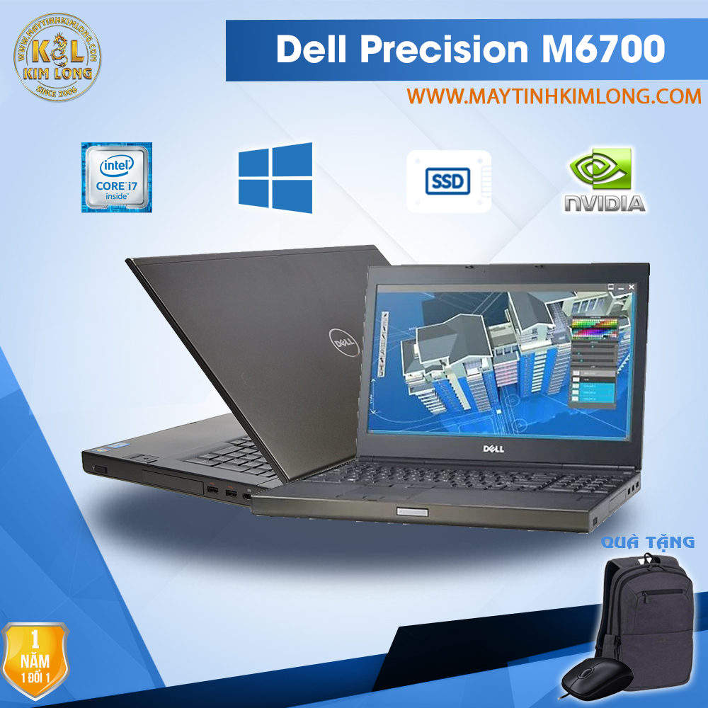 Laptop Dell Precision M6700 i7 3720QM/Ram8GB/SSD240gb/Quadro K3000M