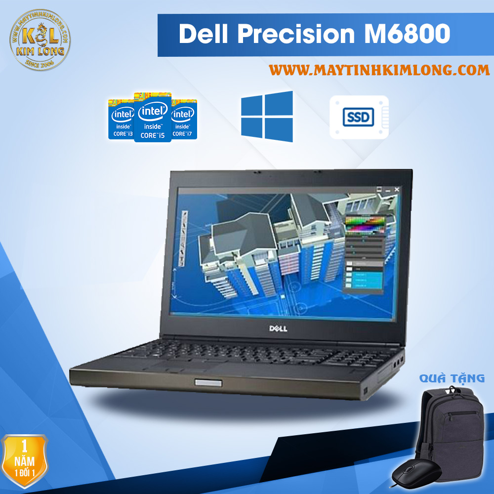 Laptop Dell Precision M6800 i7 4900QM/16GB/SSD240gb/Quadro K3100M