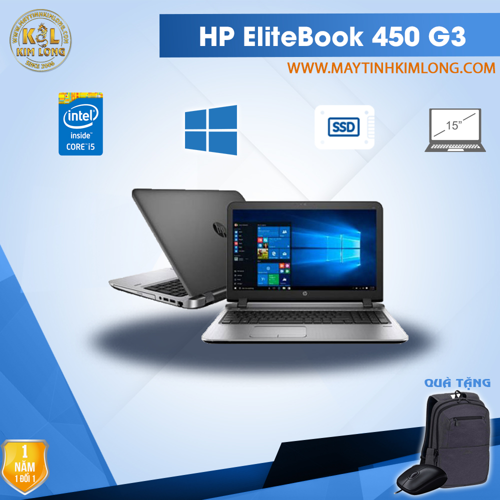 Laptop HP ProBook 450 G3 i5 6300U/8GB/SSD120GB