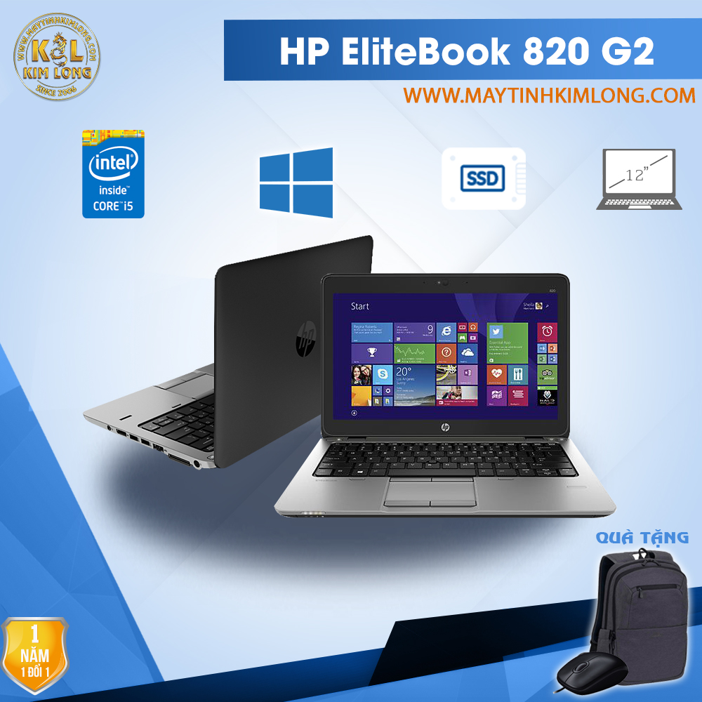 Laptop HP EliteBook 820 G2 12.5 inch - i5 5300U/4GB/SSD 128GB