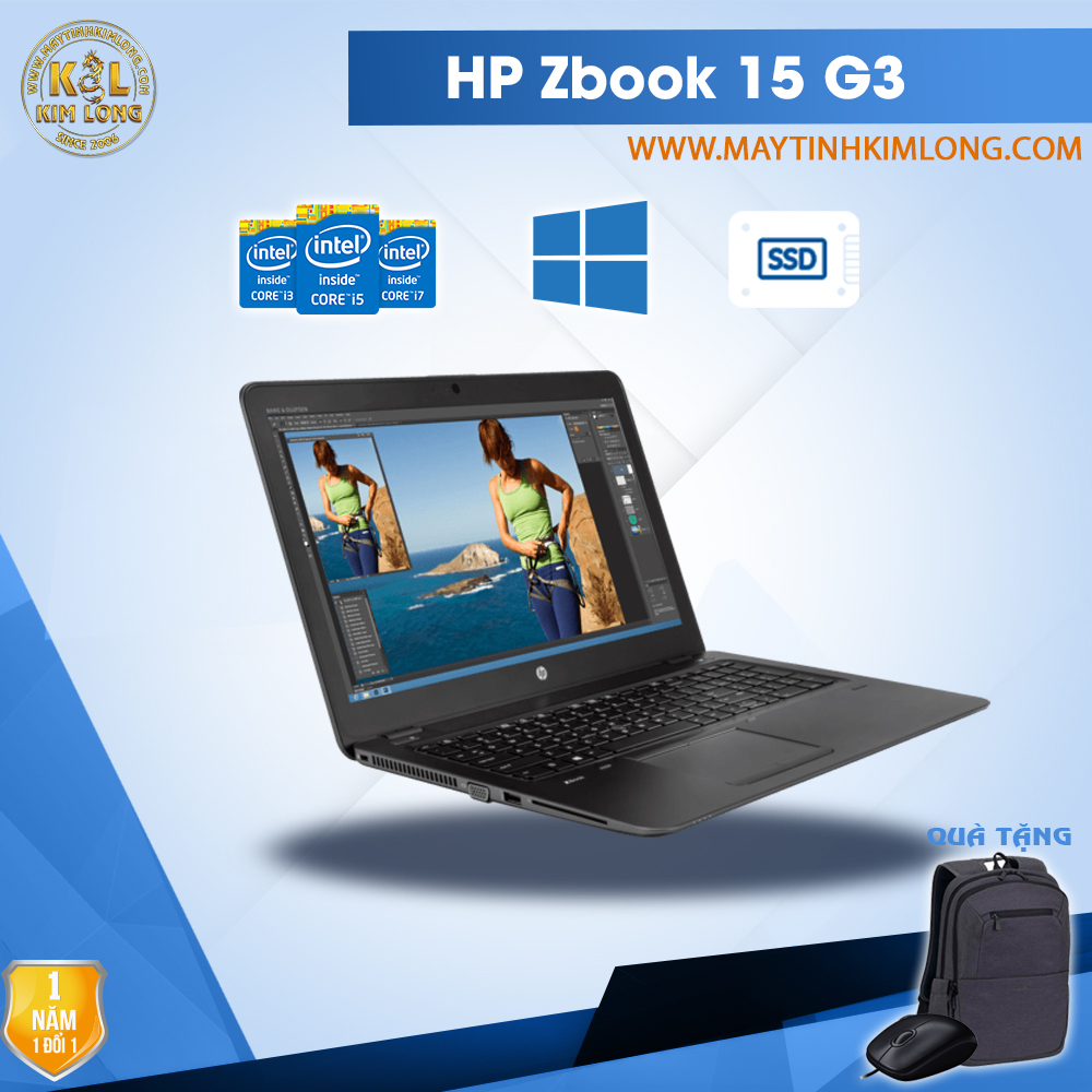 Laptop HP Zbook 15 G3 Core i7-6820HQ/DDR4  8Gb/SSD 256GB/Quadro M1000M