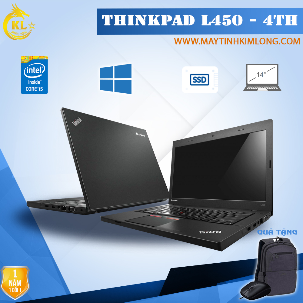 Laptop Lenovo ThinkPad L450 i5 4300U/4GB/SSD 120Gb