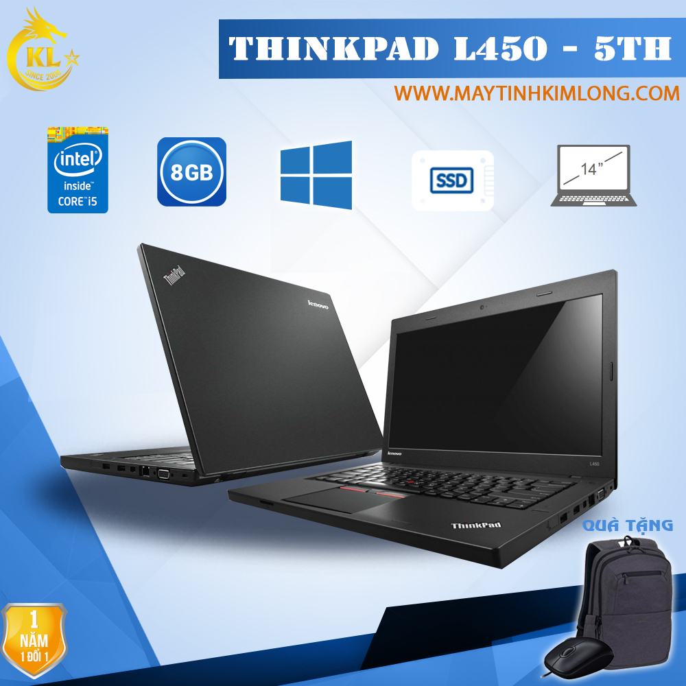 Laptop Lenovo ThinkPad L450 i5 5300U/8GB/SSD 120Gb