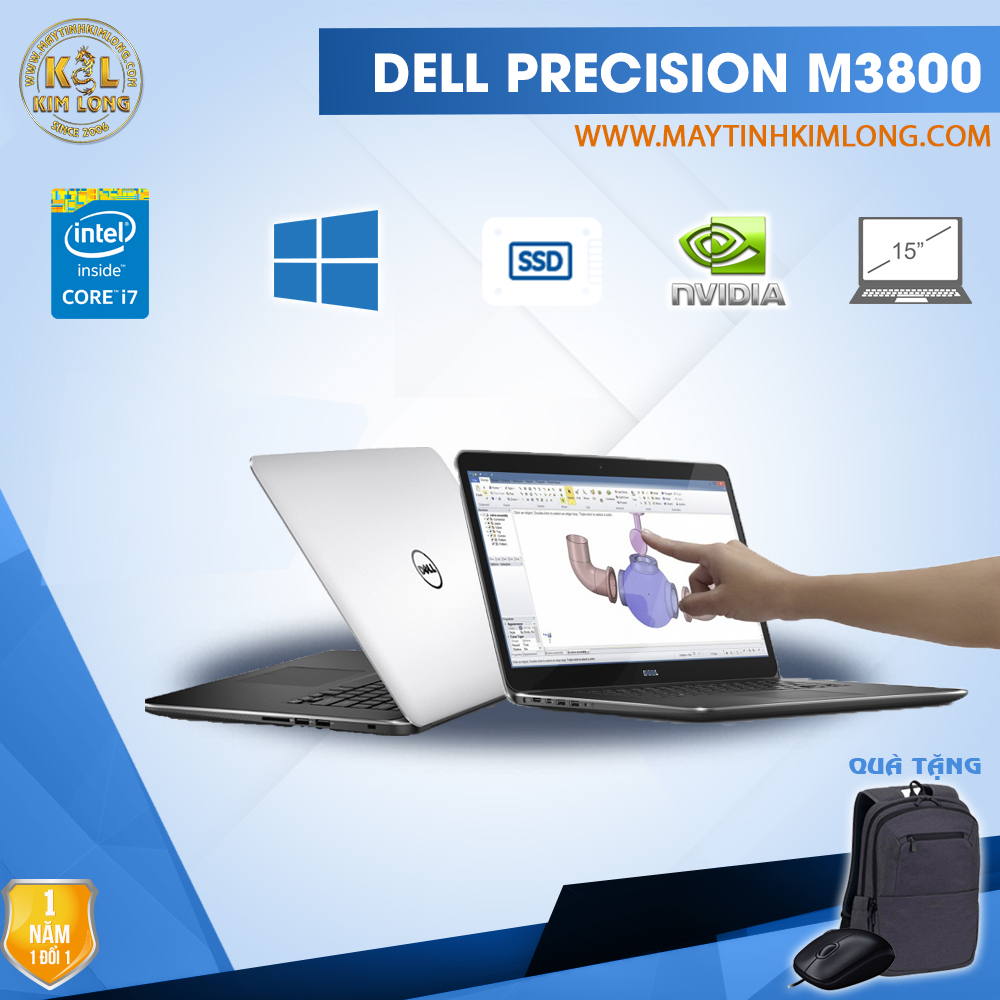 Laptop Dell Precision M3800 Core i7 4712HQ/ Ram 8Gb/ SSD 240Gb/ Quadro K1100