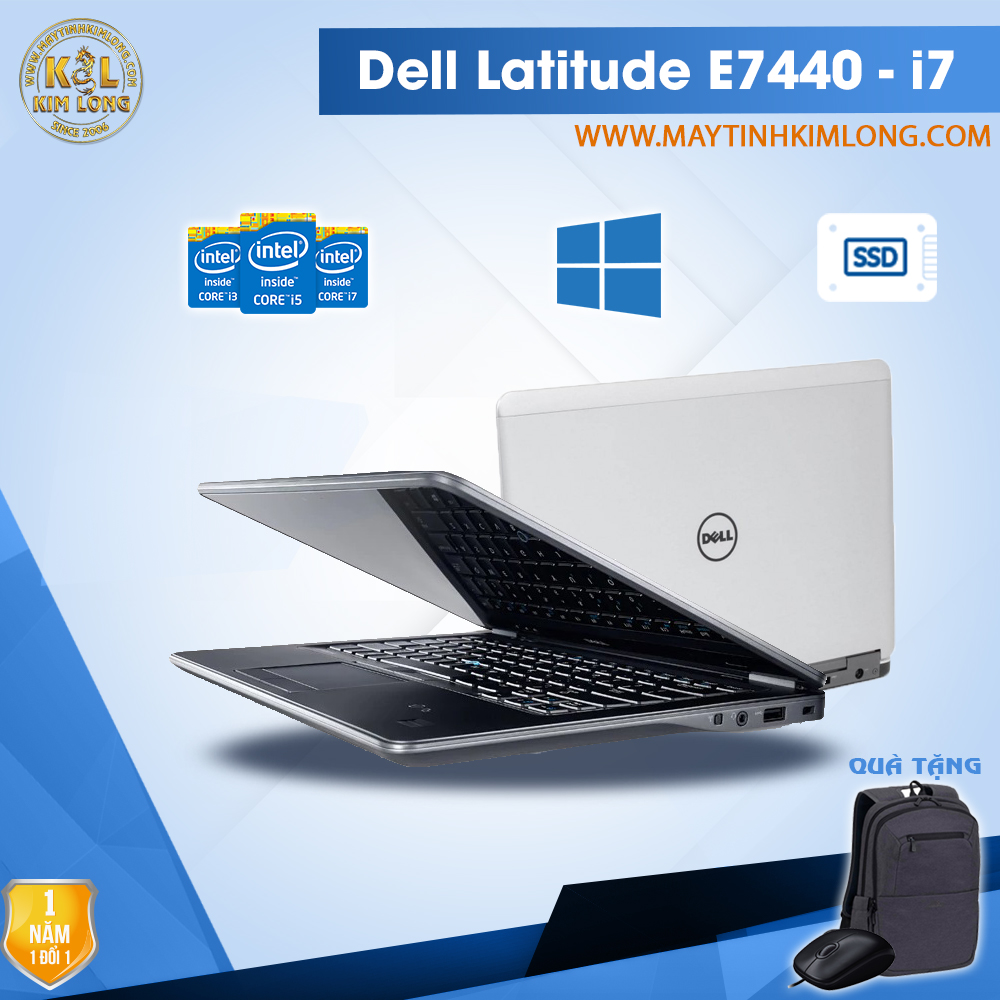Laptop Dell Latitude E7440 i7 4600u/4GB/Ssd120gb