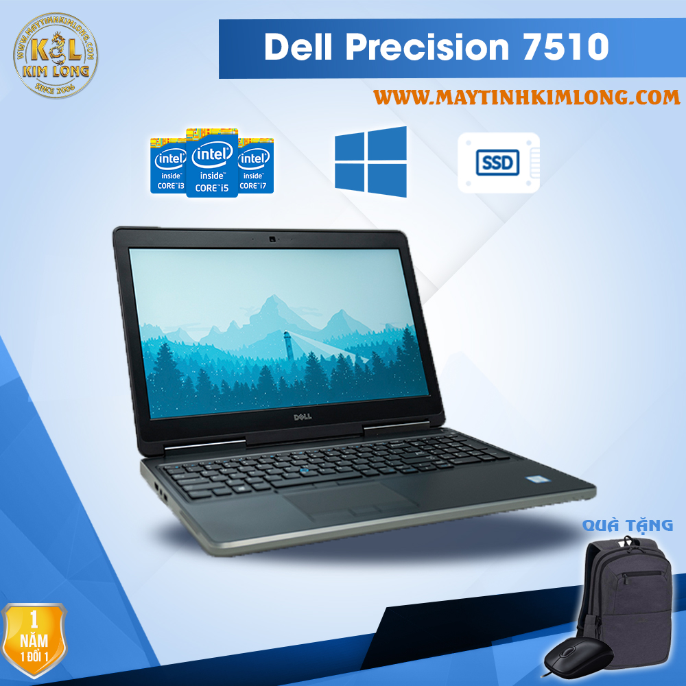 Laptop Dell Precision 7510 i7 6820HQ/DDR4 8GB/SSD240Gb/Quadro M1000M