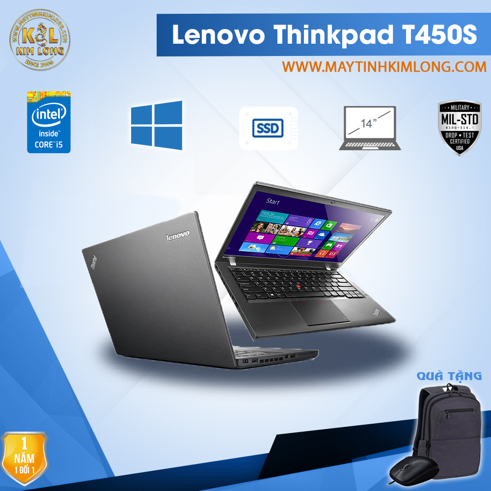 Laptop Lenovo ThinkPad T450S i5 5300U/4GB/SSD 120Gb