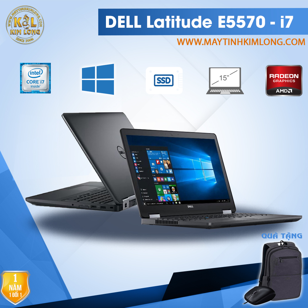 Laptop Dell Latitude E5570 i7 6600u/8GB/SSD240GB/Radeon R7 M360 2GB