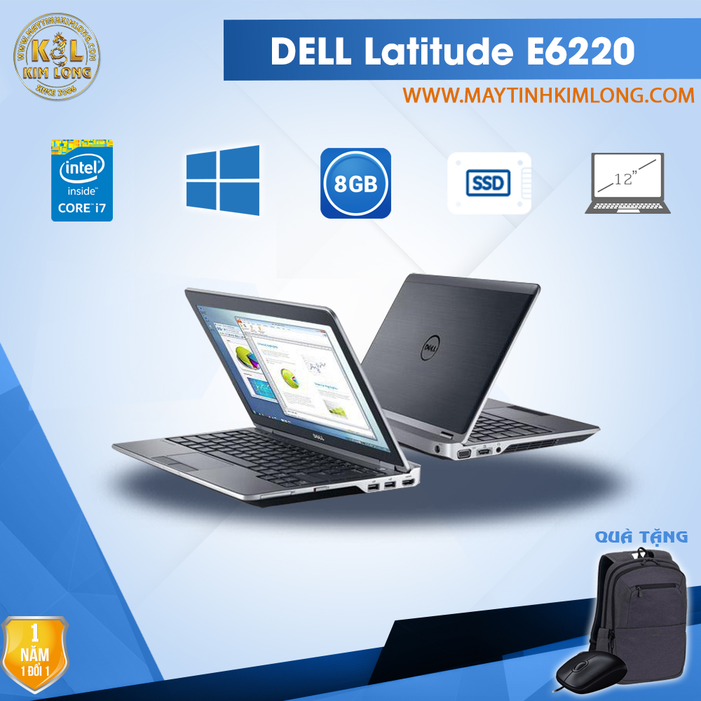 Laptop Dell Latitude E6220 i7 2620M/4GB/SSD 120Gb