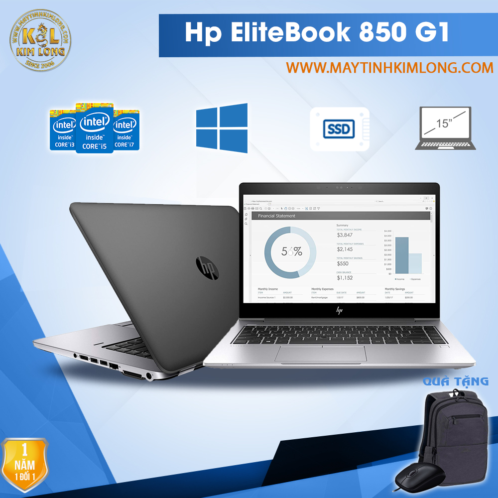 Laptop HP EliteBook 850 G1 i5 4200U/4GB/SSD 128GB