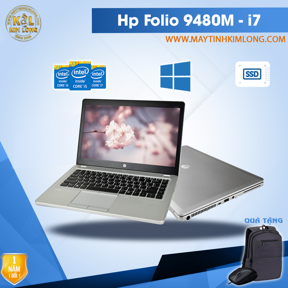 Laptop HP Elitebook Folio 9480M i7 4600U/4GB/SSD 120GB