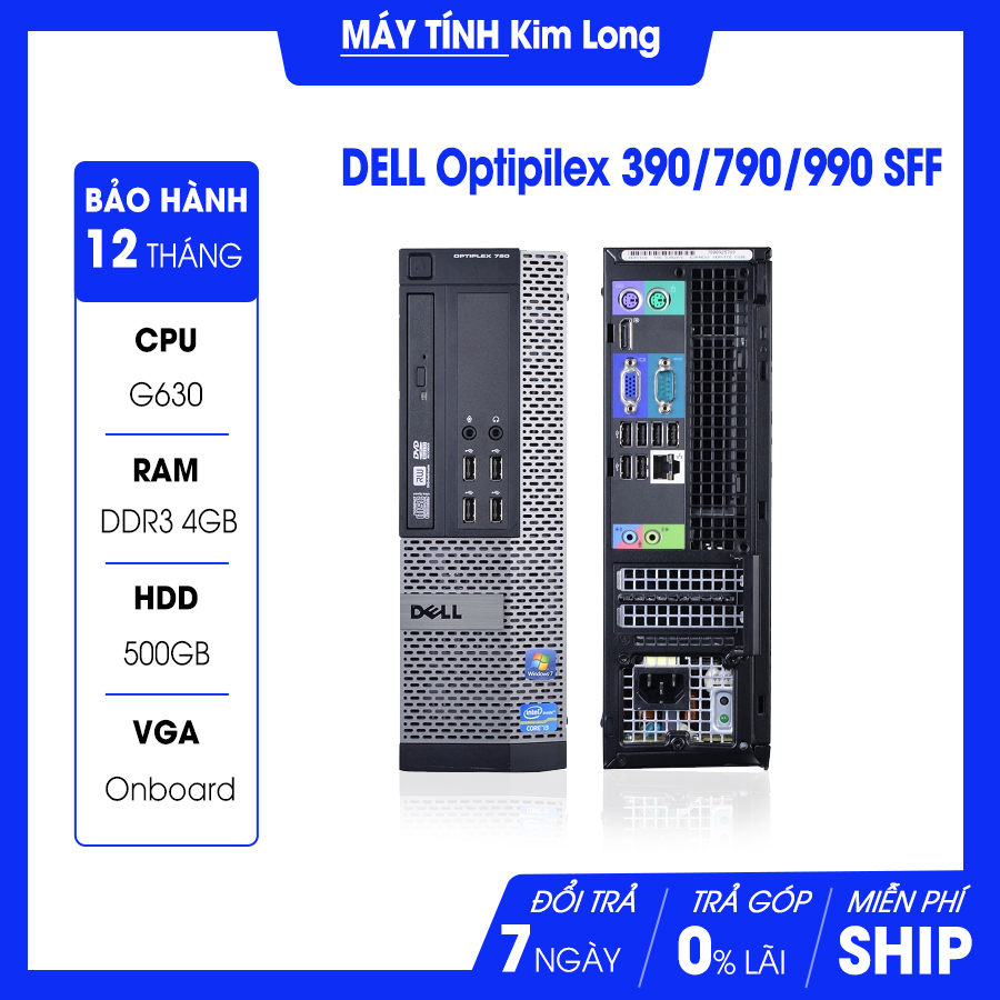 Máy bộ Dell OptiPlex 390/790/990 SFF Intel G630 2.7Ghz/4GB/500GB